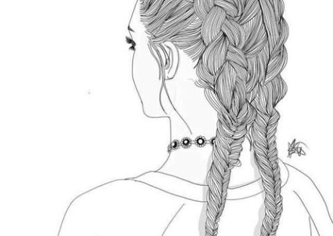 braids-girl-outlines-tumblr-outlines-Favim.com-4101744